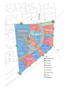 overview of available sold and reserved plots for blaby