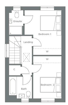 First floor plan The Avon