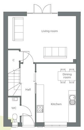 The Leam ground floor plan
