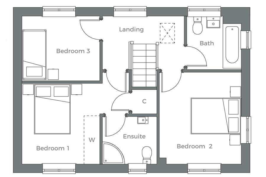 The Nene first floor plan