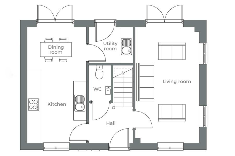 The Nene ground floor plan