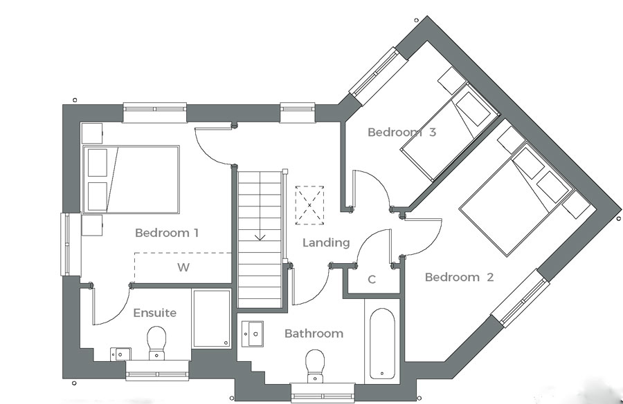 The Tove first floor plan