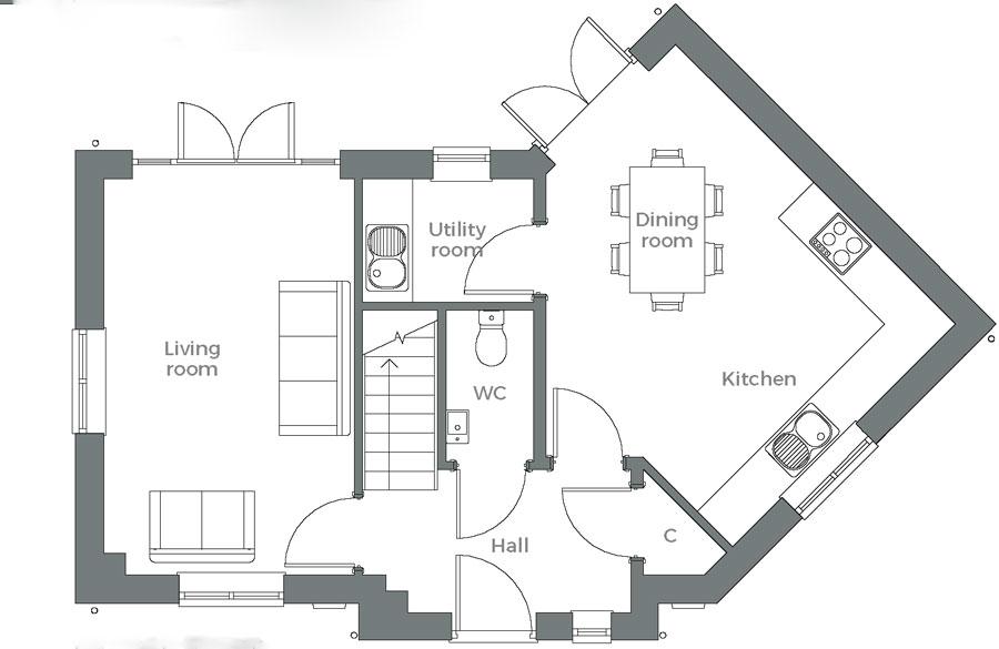 The Tove ground floor plan