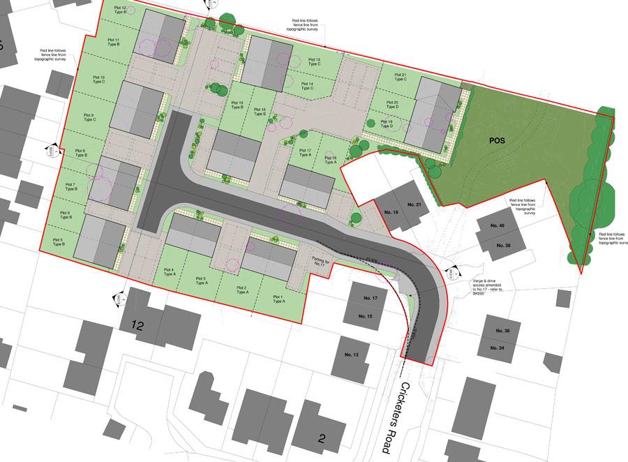 Arlesey site plan