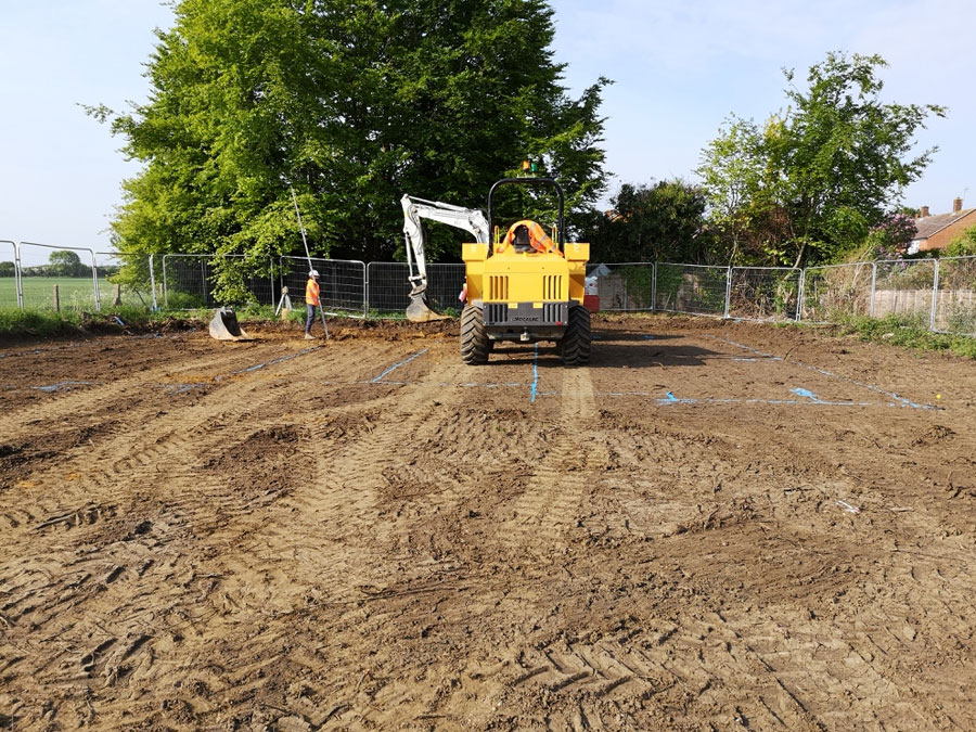 Work under way at Holwell site