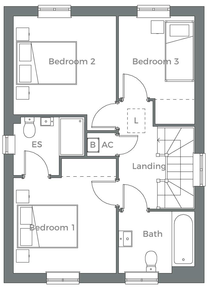 The Alder first floor plan