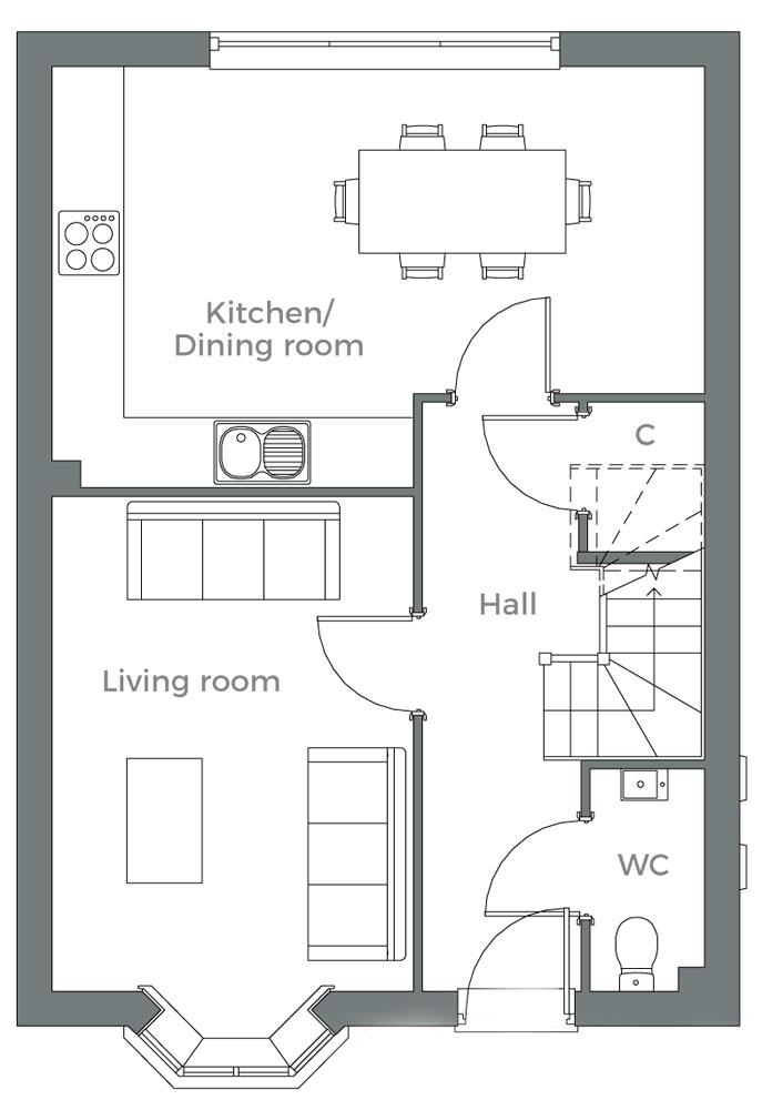 The Alder ground floor plan