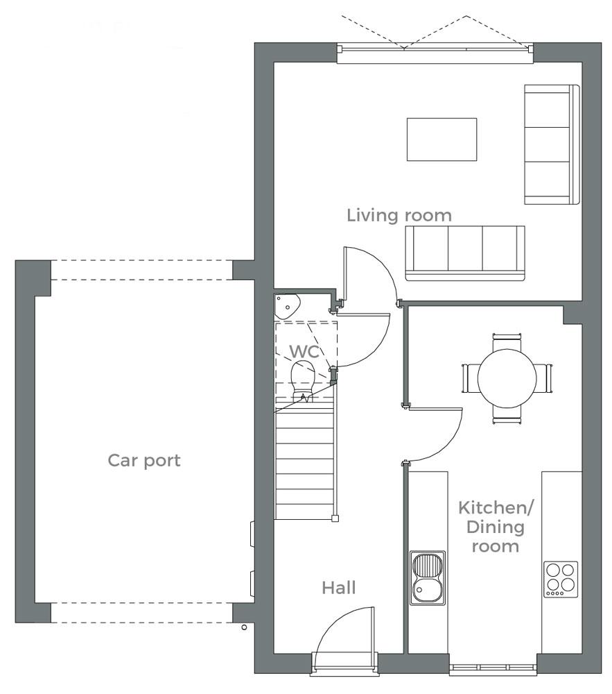The Hawthorn ground floor plan