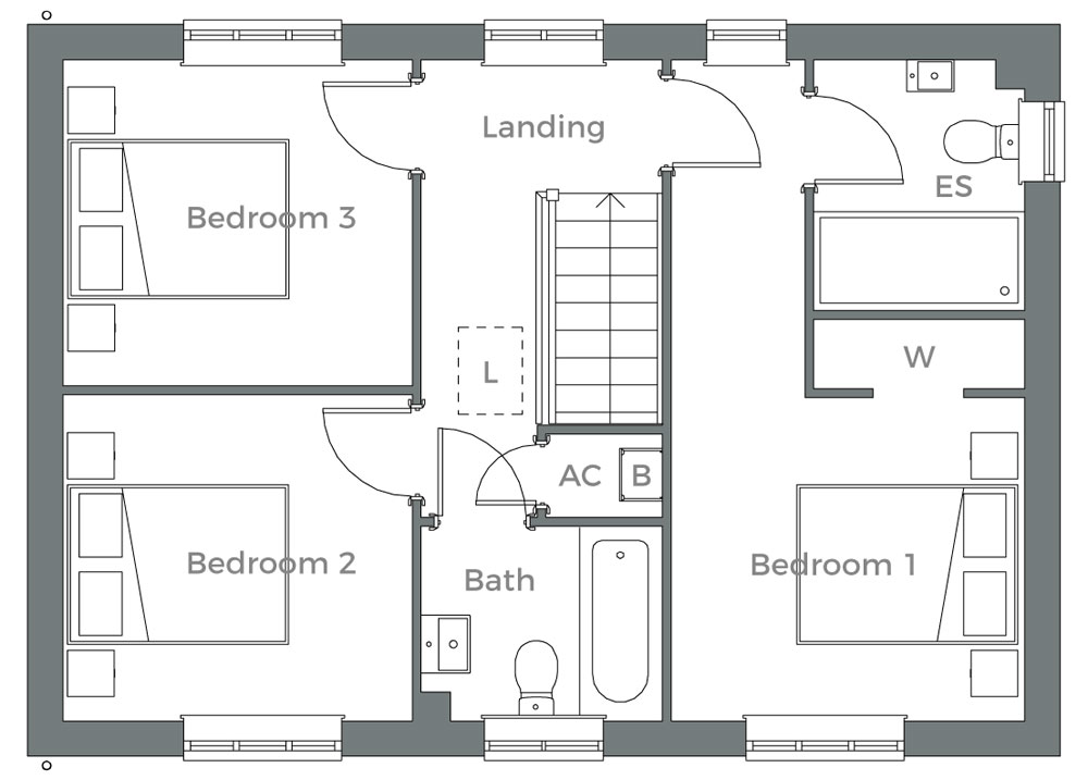 The Whitebeam first floor plan