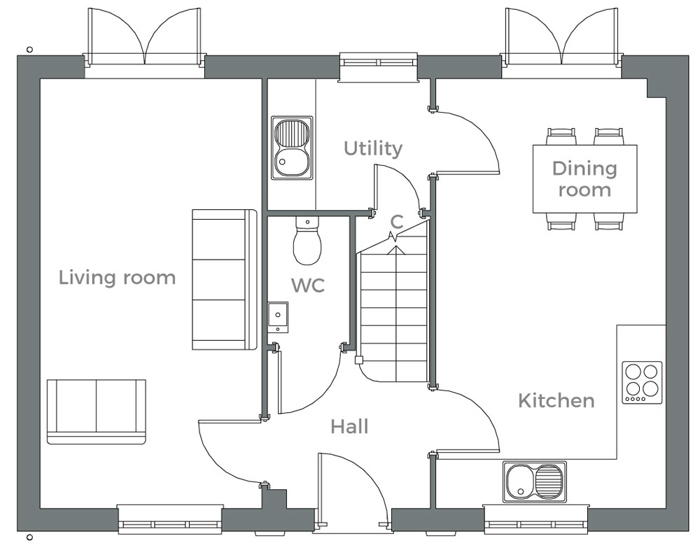 The Whitebeam ground floor plan